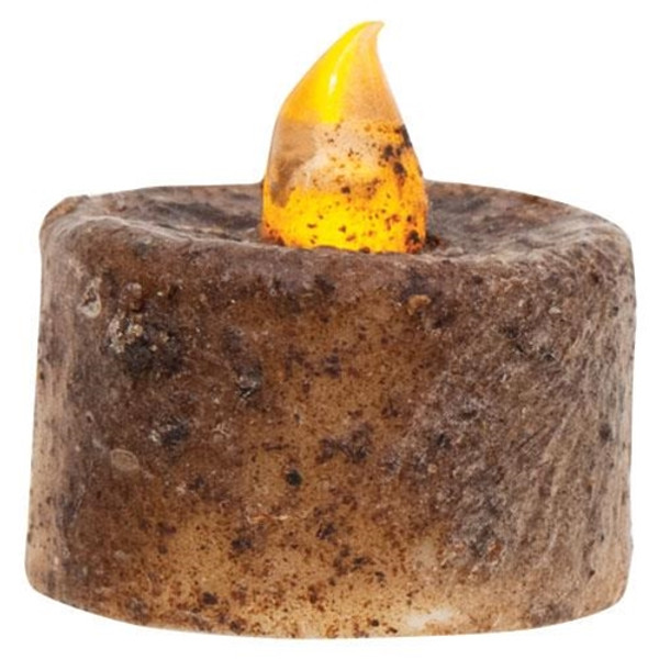 (Pack Of 6) Burnt Mustard Timer Tealights G84820 By CWI Gifts