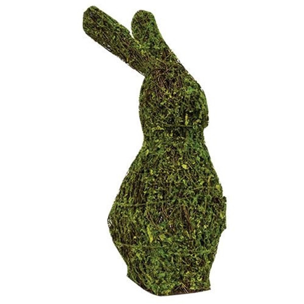 """Mossy Bunny Topiary 15"""" GBR36614 By CWI Gifts"""