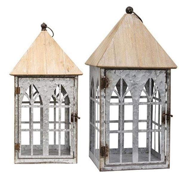 Set Of 2 - Serendipity Lanterns GMJ8761 By CWI Gifts