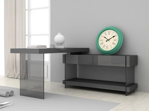 J&M Cloud Desk In Grey High Gloss 179921-D-G
