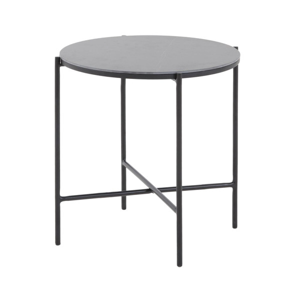 VGDWJ5837-BLK-ET Modrest Hobart - Modern Black Ceramic End Table By VIG Furniture