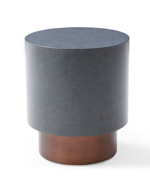 VGVCET128-GRY-ET Modrest Zachary - Modern Metal & Antique Copper Coffee Table By VIG Furniture