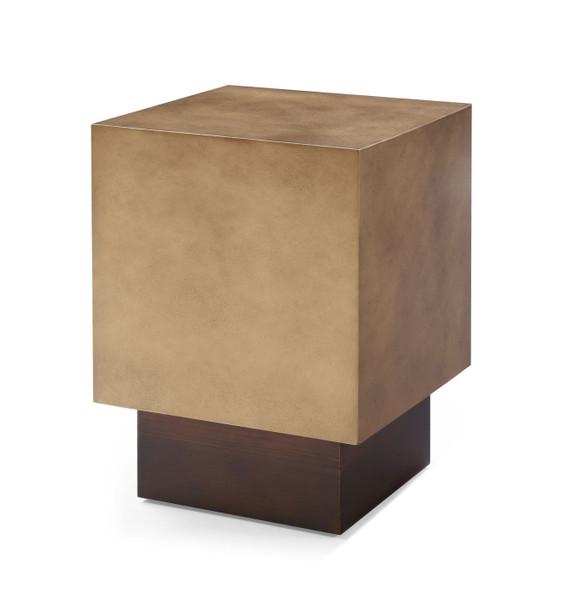 VGVCET129-GRY-ET Modrest Derek - Modern Metal & Antique Copper End Table By VIG Furniture