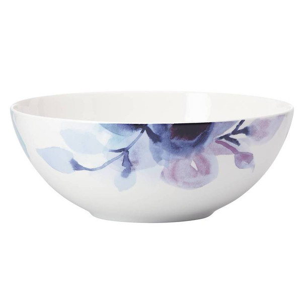 865601 Indigo Wtrclr Floral Dinnerware Serv Bwl