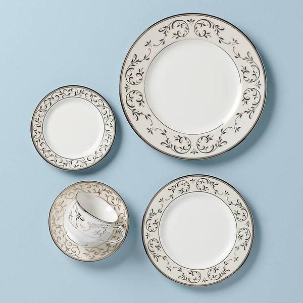 834221 Opal Inn Silver Plat Dinnerware 5 Pps