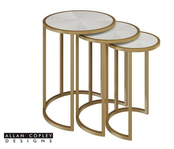 Allan Copley Greta Champagne Nesting Tables With White Top 20904-02/3-CW