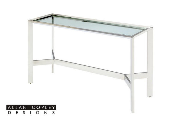 Allan Copley Denise Stainless Steel Console Table 2101-03-SS