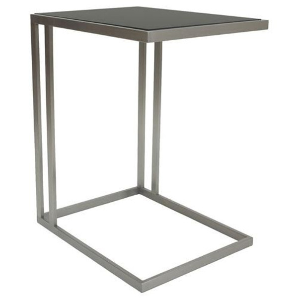 Allan Copley Salvador Brushed Stainless Steel End Table 224154