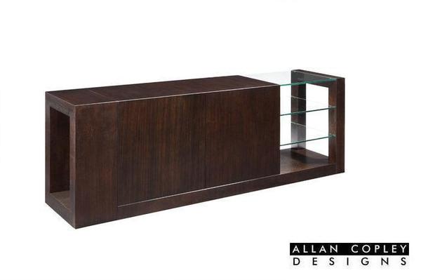 Allan Copley Dado 2-Door, 2-Drawer Buffet With Glass Shelves 30503-30