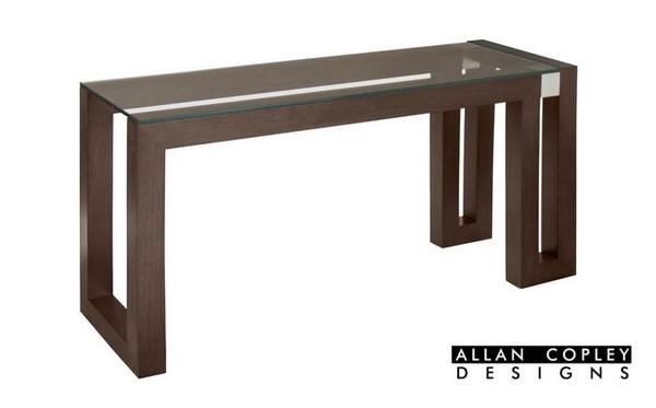 Allan Copley Calligraphy Rectangle Espresso Console Table 30504-03-G