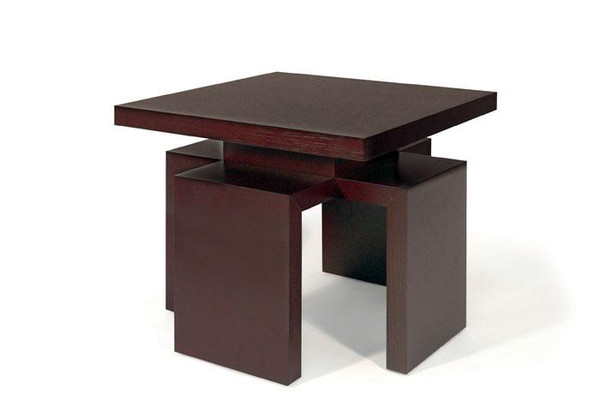 Allan Copley Sebring Square Mocha End Table 30505-02-MO