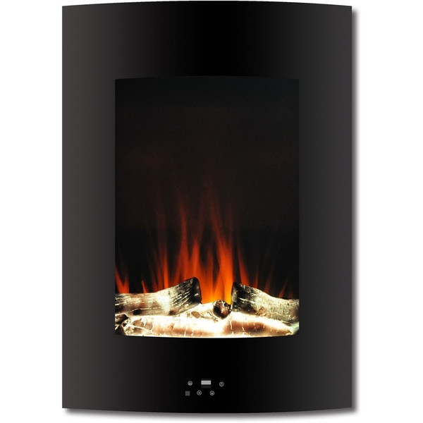 """19.5"""" Vertical Color Changing Wall Mount Fireplace With Logs"""