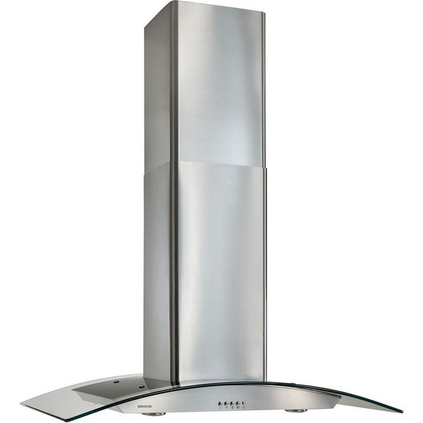 "Broan Elite 35.38"" X 25.63"" Chimney Hood, Curved Glass Canopy EI5936SS"
