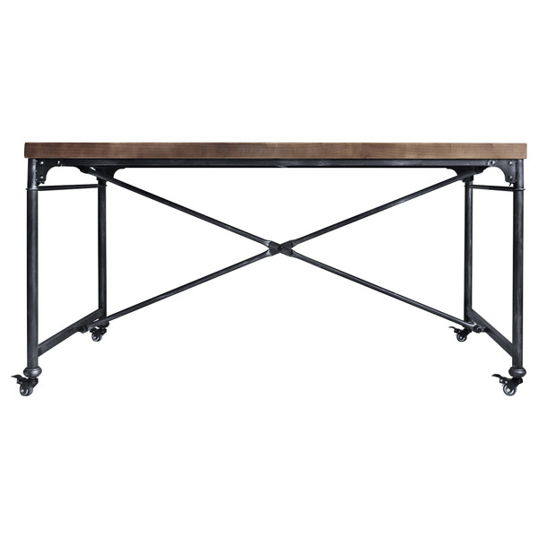 Armen Enzo Industrial Dining Table In Industrial Grey And Pine Wood LCEZDISBPI