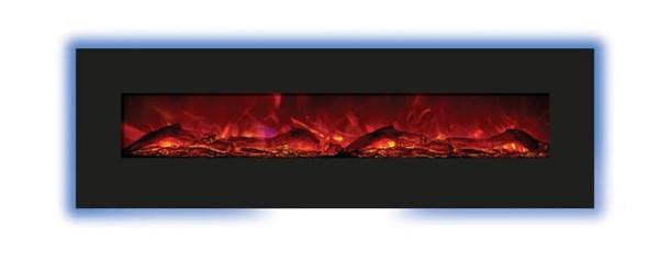 8123-BLKGLS Amantii 81 X 23 Inch Black Glass Surround