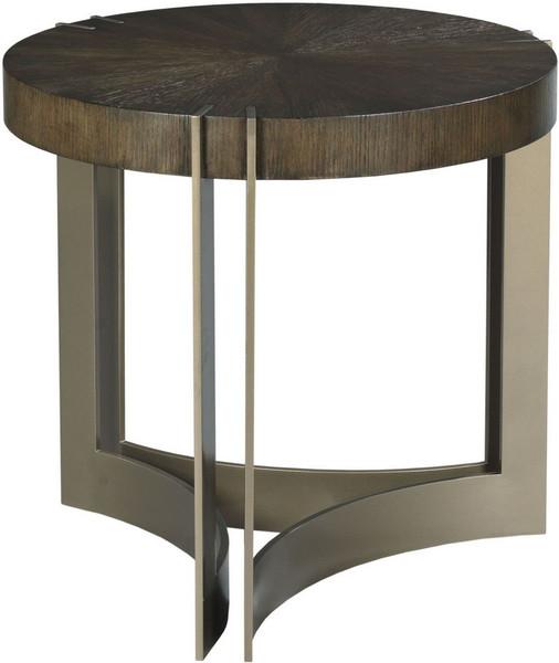 American Drew Ad Modern Classics Dark Oak Kent Round Lamp Table 603-920