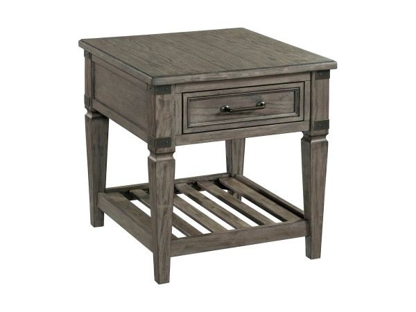 """Intercon Foundry 24"""" End Table FR-TA-2426-PEW-C"""