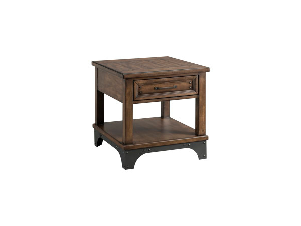 Intercon Whiskey River End Table 23 X 26 X 24 WY-TA-2324-GPG-C