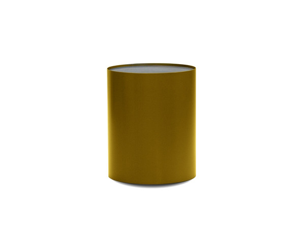End Table Auro Black Marble Top/Brass Base WENAUROMBLABRASS By Mobital
