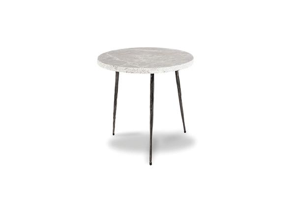 End Table Kaii Grey Marble - Medium WENKAIIGREYMEDIU By Mobital
