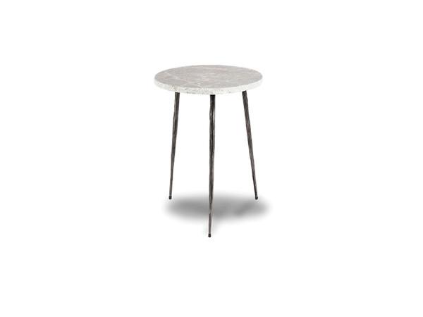 End Table Kaii Grey Marble - Tall WENKAIIGREYTALL By Mobital