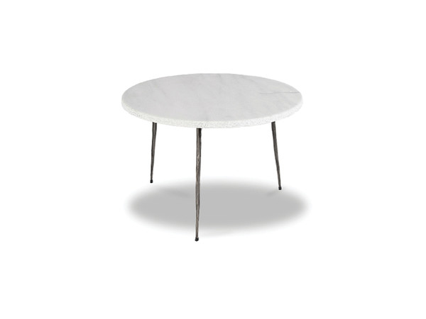 End Table Kaii White Marble - Low WENKAIIWHITLOW By Mobital