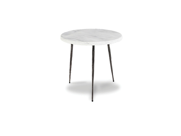 End Table Kaii White Marble - Medium WENKAIIWHITMEDIU By Mobital
