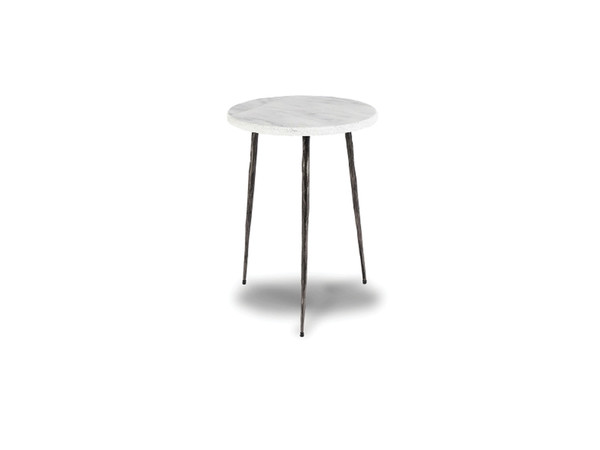 End Table Kaii White Marble - Tall WENKAIIWHITTALL By Mobital