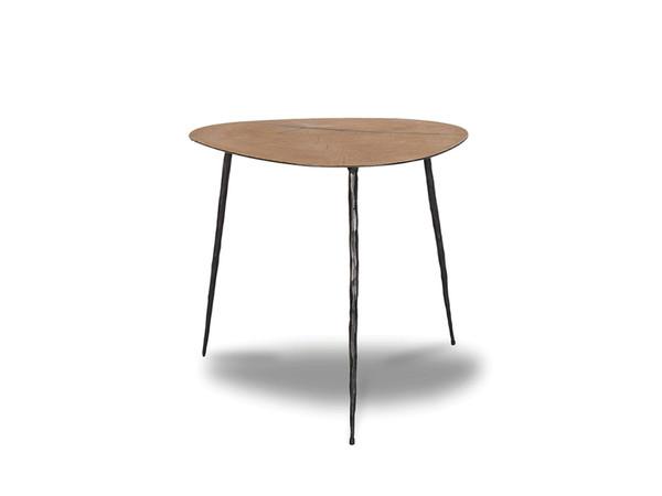 End Table Oakley Low Oak Veneer/Black Iron Legs WENOAKLNOAKLOW99 By Mobital