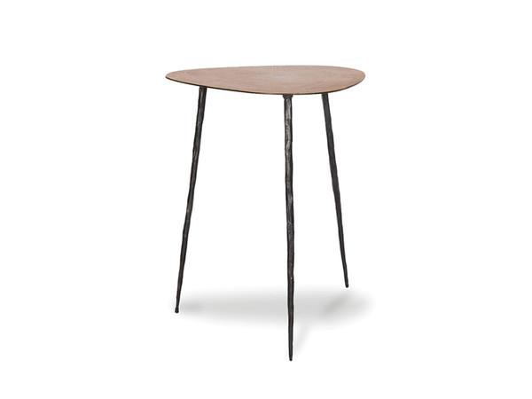 End Table Oakley Tall Oak Veneer/Black Iron Legs WENOAKLNOAKTALL9 By Mobital