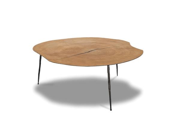 Coffee Table Oakley Low Oak Veneer/Black Iron Legs WCOOAKLOAK9LOW99 By Mobital