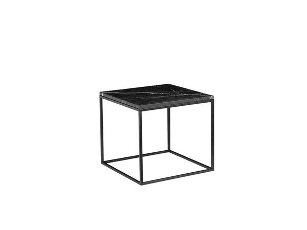 Top Of End Table Onix Square Semi-Honed Black Marble WENONIXBLACSQTOP By Mobital