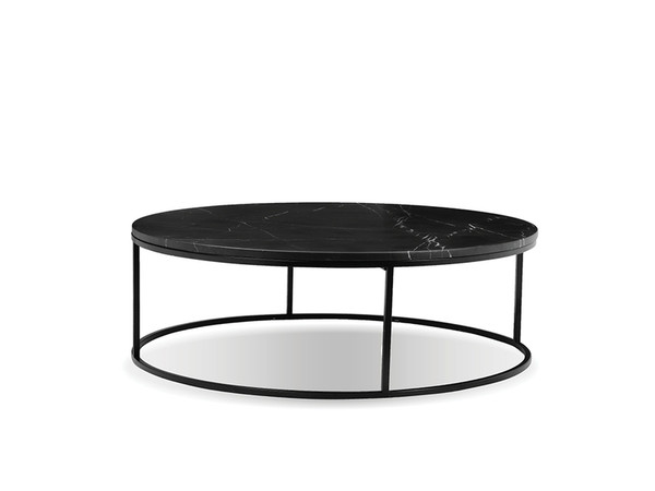 Top Of Coffee Table Onix Round, Semi-Honed Black Marble WCOONIXBLACROTOP By Mobital