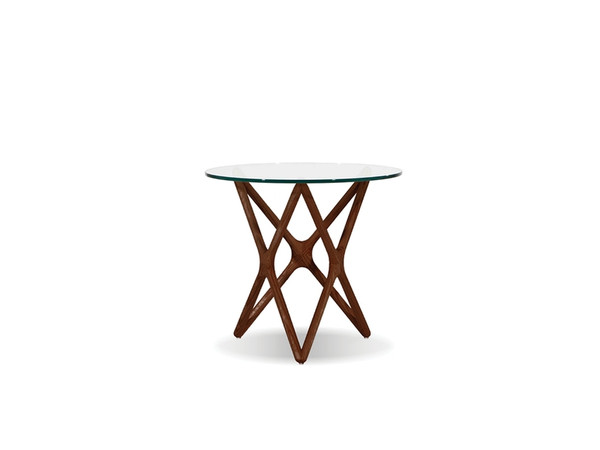 End Table Quasar Low Clear Glass Top/Ash Stained Light WENQUASASHWLOW9 By Mobital