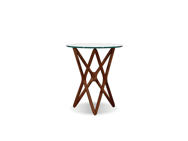 End Table Quasar Tall Clear Glass Top/Ash Stained Light WENQUASASHWTALL9 By Mobital