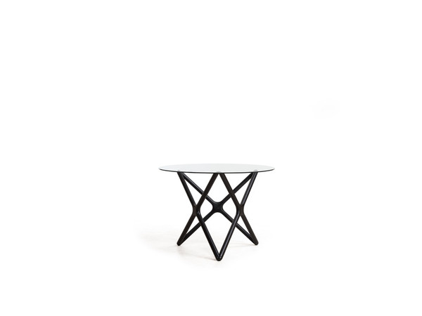 End Table Quasar Low Clear Glass Top/Solid Wood Ash WENQUASBBEELOW9 By Mobital
