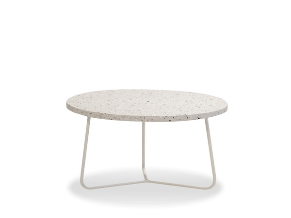 """Coffee Table Rizzo 36"""" White Terrazzo Marble/White WCORIZZWTER36IN By Mobital"""
