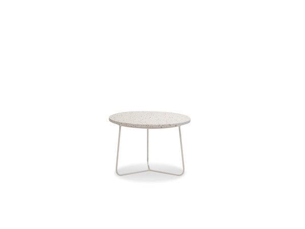 End Table Rizzo Low-White Terrazzo Marble/White Frame WENRIZZWTERLOW99 By Mobital