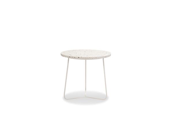 End Table Rizzo Medium-White Terrazzo Marble/White WENRIZZWTERMEDIU By Mobital