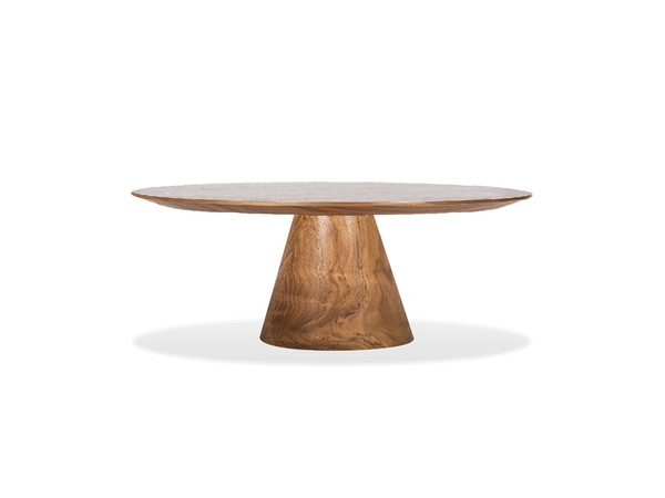 Coffee Table Tower 36In Natural Walnut WCOTOWEWALN36IN By Mobital