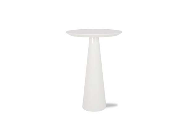 End Table Tower Tall High Gloss White WENTOWEWHITLARGE By Mobital