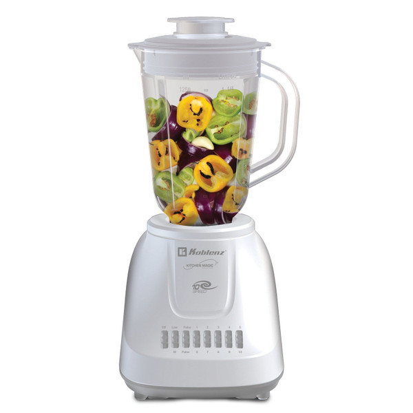 1.25-Liter Kitchen Magic Collection 10 Speed And 2 Pulses Plastic Jar Blender
