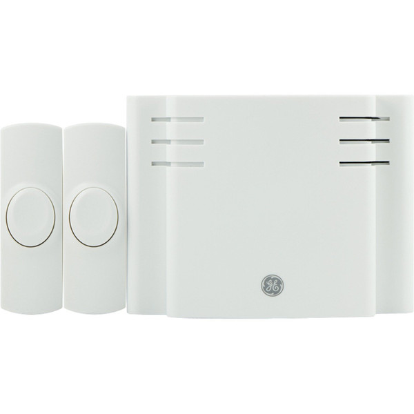 Battery-Operated 8-Melody Door Chime With 2 Pushbuttons