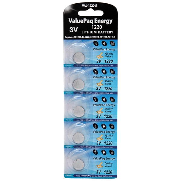 Valuepaq Energy 1220 Lithium Coin Cell Batteries, 5 Pk