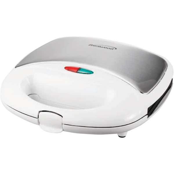Nonstick Panini Press & Sandwich Maker (White)