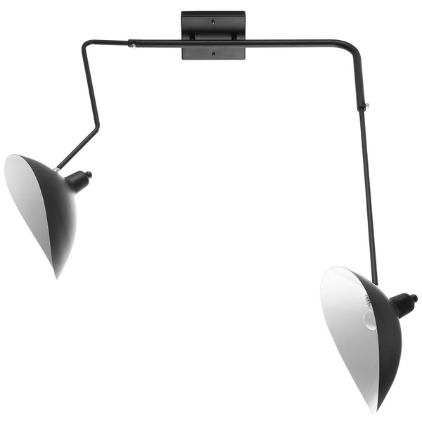 Modway View Double Fixture Wall Lamp - Black EEI-1590