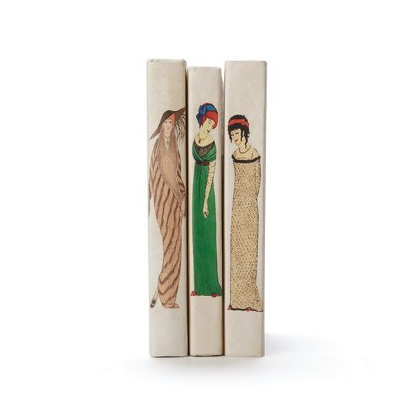 Vintage Art Deco Woman White Decorative Book