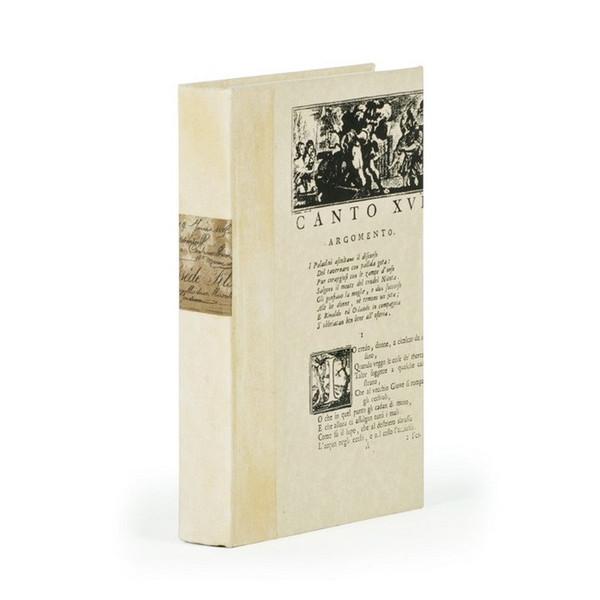 Ivory Script Title Design Decorative Book