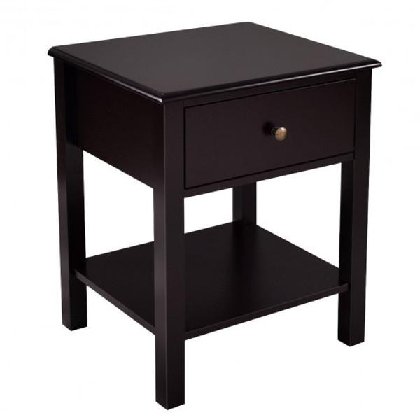HW53996CF Brown Nightstand End Table