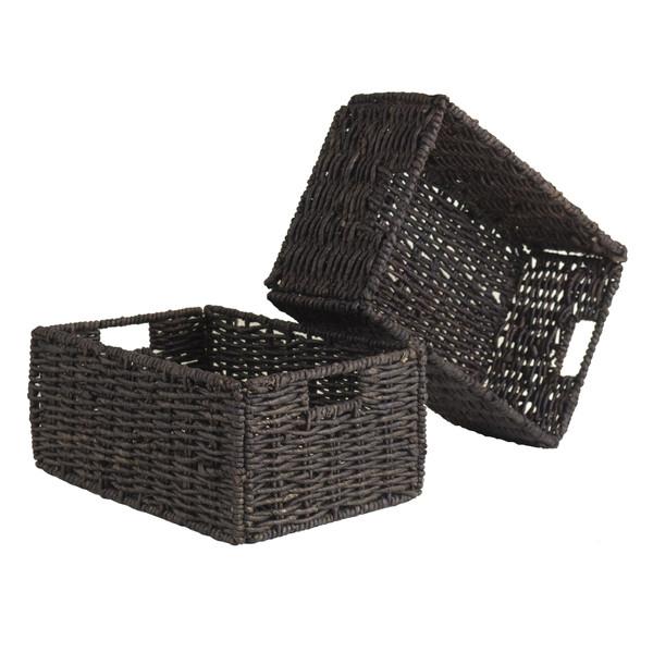 Winsome Granville Set Of 2 Medium Foldable Baskets 38207